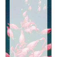 """Bright Pink Painted Flamingos Aluminum 8 x 12"""" Dry Erase Board Sign All Over Print"""
