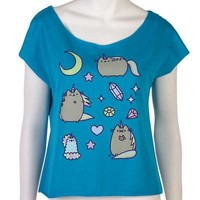 Pusheen Cat Pusheenicorn Facebook Meme Licensed Womens Junior Dolman Shirt