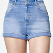 Kendall and Kylie Sky Blue Super High Rise Shorty Denim Shorts at PacSun.com