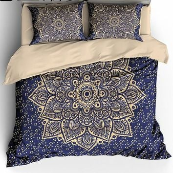 Ms.O Mandala Geometric Ethnic Vanitas Full Twin Queen King Size Morocco Indian Bedding Set Bohemian Duvet Cover Set Bed Linen