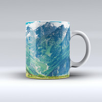 The Scenic Mountaintops ink-Fuzed Ceramic Coffee Mug