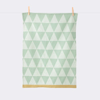 Mountain Tea Towel in Mint design by Ferm Living