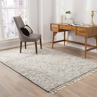Portofino Stripe Hand-Knotted Gray Area Rug
