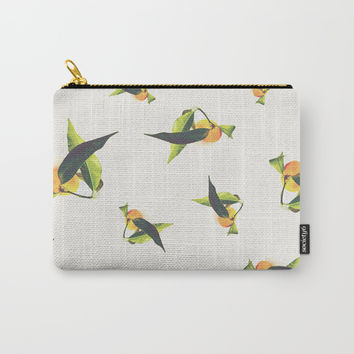 Tangerine Pattern Carry-All Pouch by ARTbyJWP