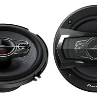Pioneer TS-A1685R 350 Watts 4-Way Car Speakers, 6 1/2 Inch - 6 3/4 Inch, 1 Pair