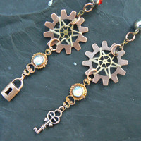 PICK ONE steampunk victorian dreamcatcher belly ring in steampunk goth fantasy tribal boho belly dancer tribal fusion and hipster style