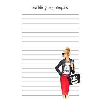 BUILDING MY EMPIRE NOTEPAD (BLONDE)