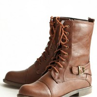 forever wandering lace-up boots at ShopRuche.com
