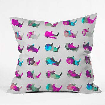 Elisabeth Fredriksson Rhinos II Throw Pillow