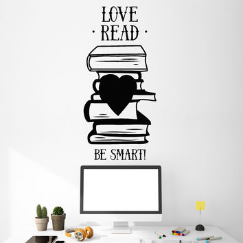 Vinyl Wall Decal Books Quote Library Book Shop Reading Room Stickers Unique Gift (ig4932)