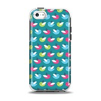 The Vibrant Colored Vector Bird Collage Apple iPhone 5c Otterbox Symmetry Case Skin Set
