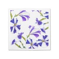 purple petunia flower painting paper napkin