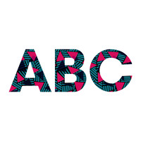 Sarah Bagshaw Blue And Pink Triangles Decorative Letters