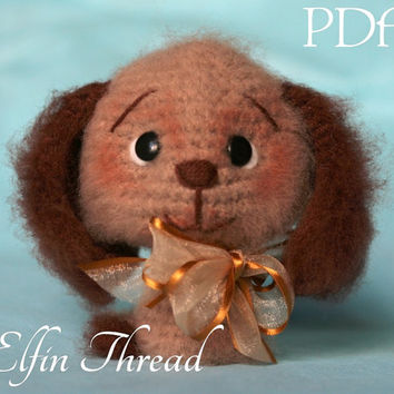 Elfin Thread Fuzzy Mini Dog Amigurumi PDF Pattern (dog amigurumi crochet pattern)