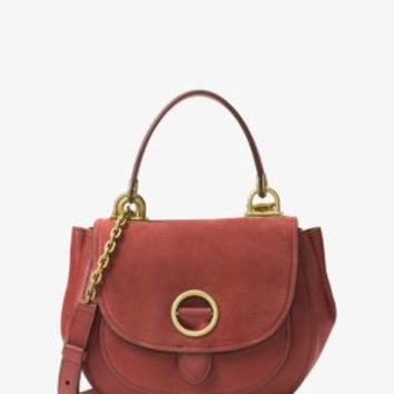 Isadore Medium Suede Satchel | Michael Kors
