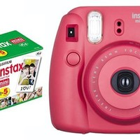 Instant camera Cheki instax mini8 Cheki raspberry & film 50 sheets set