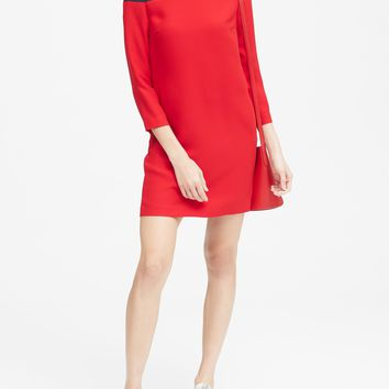 Color-Blocked Shift Dress | Banana Republic
