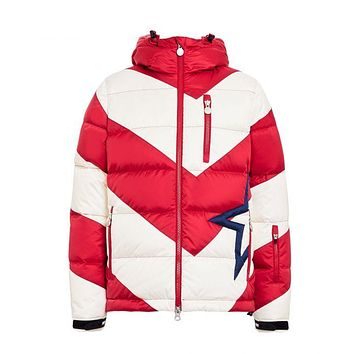 Perfect Moment - Kids' Striped Super Mojo Red Snow White Jacket