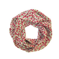 Girls Scarf Toddler Scarf Childs Scarf Roses Red Green White Gift Idea Ready to Ship