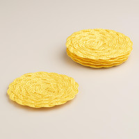 Yellow Poly-Braided Coasters, Set of 6 - World Market