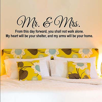Mr And Mrs Vinyl Wall Decal Sticker