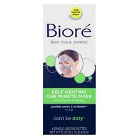 Biore 4 ct Serum Deep Cleaning Facial Mask Treatment