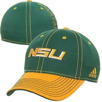 adidas Norfolk State Spartans Classic Flex Hat - Green/Gold