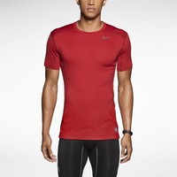 Nike Pro Combat Core 2.0 Fitted Short-Sleeve Men's Crew - Gym Red