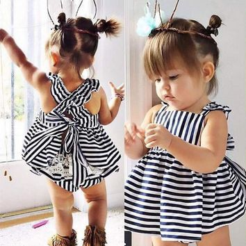 Baby Girl's Backless Bow Dress