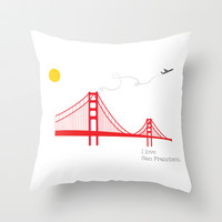 San Francisco.  Throw Pillow by Irmak Berktas