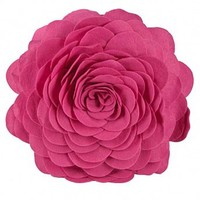 Wake Up Frankie - How She Felt Flower Dec Pillow - Candy Pink : Teen Bedding, Pink Bedding, Dorm Bedding, Teen Comforters