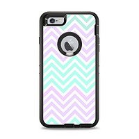 The Light Teal & Purple Sharp Chevron Apple iPhone 6 Plus Otterbox Defender Case Skin Set