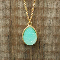 Sparkling Lake Druzy Necklace