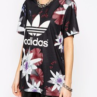 Adidas Originals Lotus Print T-Shirt