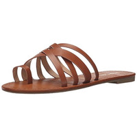 Report Womens Gyselle Faux Leather Slide Flat Sandals