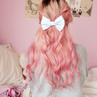 Light Blue Polka Dot Hair Bow