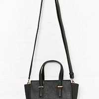 DailyLook: DAILYLOOK Madison Mini Winged Tote in Black One Size