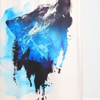 Robert Farkas For DENY Alone As A Wolf Shower Curtain - Urban Outfitters