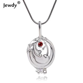 The Vampire Diaries Pendant Elena Gilbert Vintage Red Crystal Vervain Verbena Silver Plated Necklace for women fashion jewelry