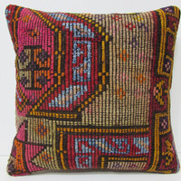20x20 autumn kilim pillow rich colored pillow 20x20 pillowcase large pillow sham turkish pillow case decorative accessories floral rug 26685