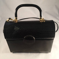 "Vintage Purse, Tagged ""La Regale, Ltd"", Vintage Accessory, Black Purse, Day Or Evening, 1950's, Mid-Century"