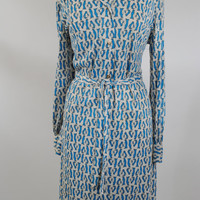 1970s Nancy Valentine Vintage Penguin print shirt dress in excellent condition