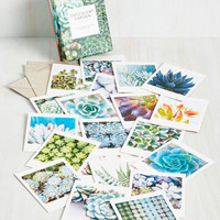 Chlorophyll Me In Notecard Set | Mod Retro Vintage Desk Accessories | ModCloth.com