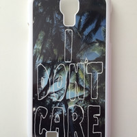 I Don't Care Palm Trees Android Galaxy Case