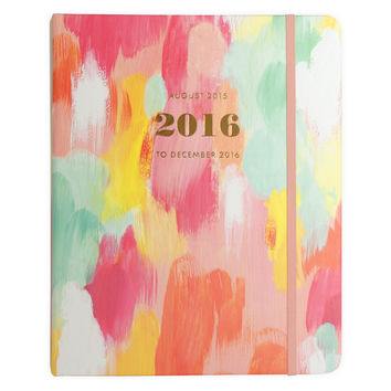 2016 Painted Brushstroke 17-Month Planner