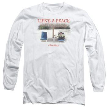 Office Space - Lifes A Beach Long Sleeve Adult 18/1 Officially Licensed Shirt