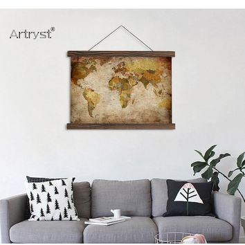 HD World Map For Wall Decor