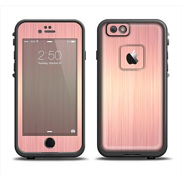 The Rose Gold Brushed Surface Apple iPhone 6 LifeProof Fre Case Skin Set