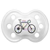 Bike, Cycle with Motivational Words Sport Baby Pacifier from Zazzle.com