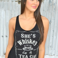 She's Whiskey in a Tea Cup Tank Top